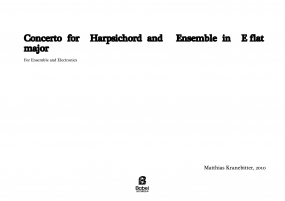 Concerto for harpsichord and ensemble  image
